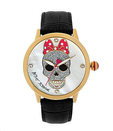 Betsey Johnson Skull Dial Watch