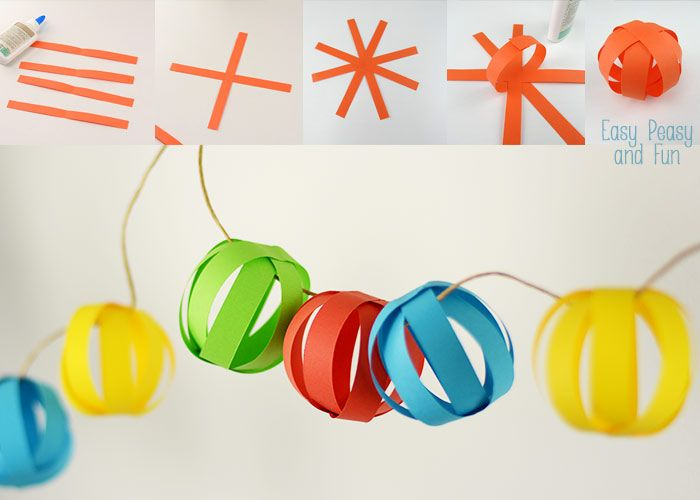 How To Make Paper Balls For Decoration Unique Paper Ball Garland  Paper Balls Easy Peasy And Garlands Design Ideas