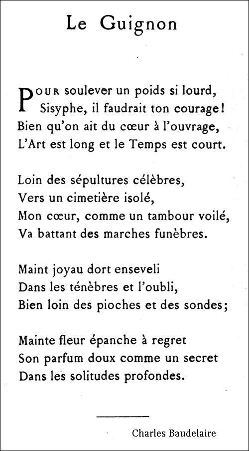 Le Guignon Bossdelaire Poesia