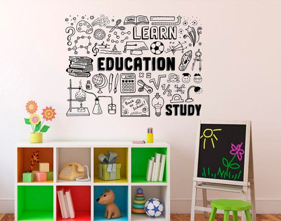 education wall decal school vinyl sticker library classroom home