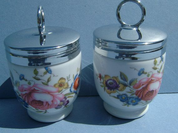 1960s Royal Worcester Egg Coddlers  Made in by BiminiCricket, $45.00