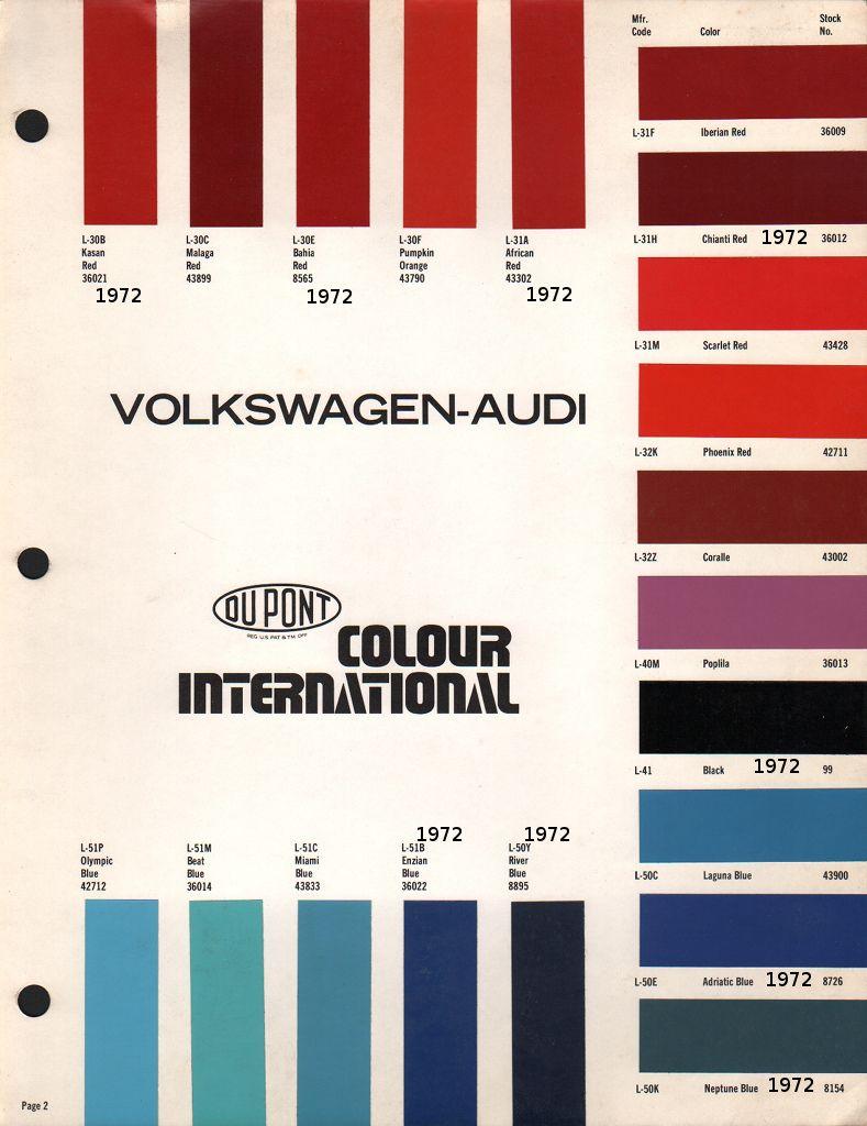 dupont paint chips 1972 volkswagen beetle [ 789 x 1024 Pixel ]