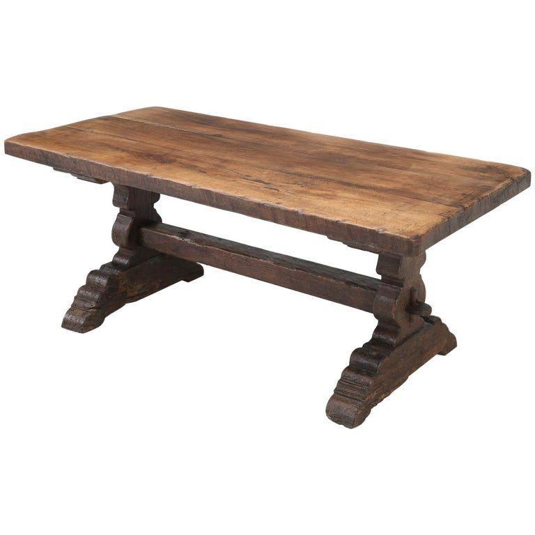1stdibs Farm Table Antique Farm Trestle Circa 200 Years