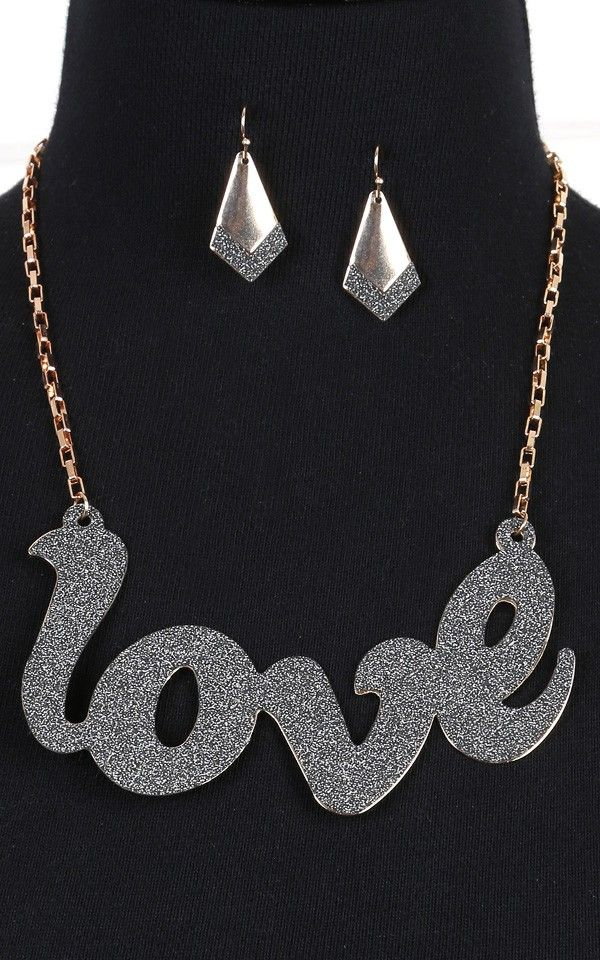 Love Necklace BLACK