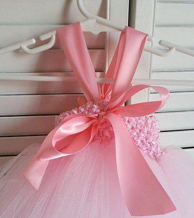 Tutu dress Light Pink Flower