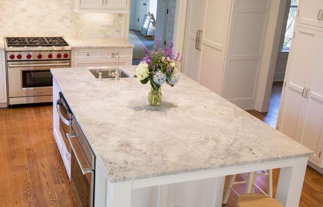 Kitchen Counters Slider K9 Ocean Blue Travertine White