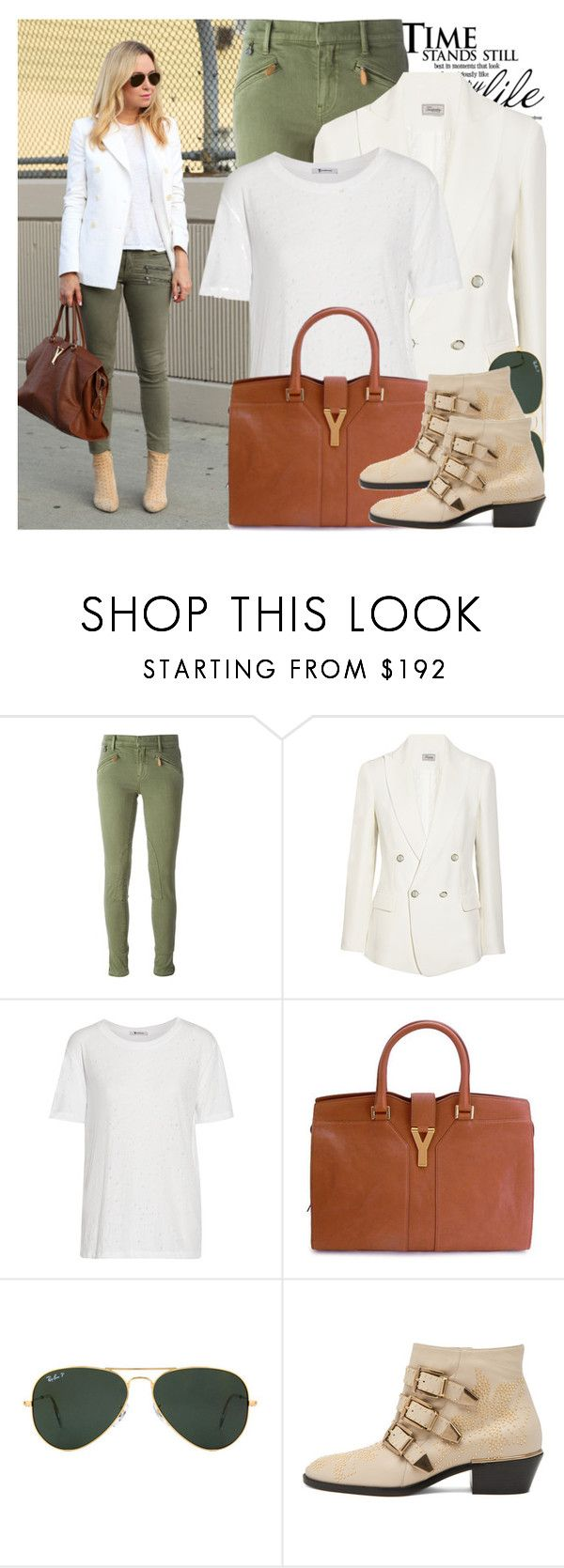 """""""2206. Blogger Style: Brooklyn Blonde"""" by chocolatepumma ❤ liked on Polyvore featuring moda, Polo Ralph Lauren, Temperley London, T By Alexander Wang, Yves Saint Laurent, Ray-Ban, Chloé, YSL, BloggerStyle y citylook"""