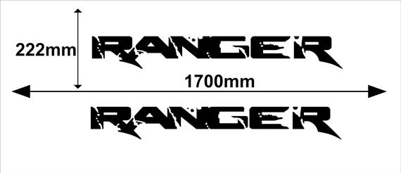 Ford Ranger 2x Large Side Vinyl Body Decal Sticker Logo Graphics