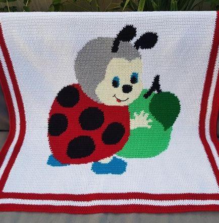 Crochet Pattern | Baby Blanket / Afghan - Ladybird\'s Apple | COBIJAS ...