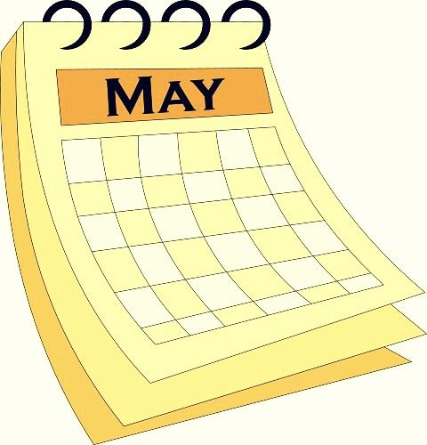 Art Calendar Template : May calendar clipart template calendars pinterest