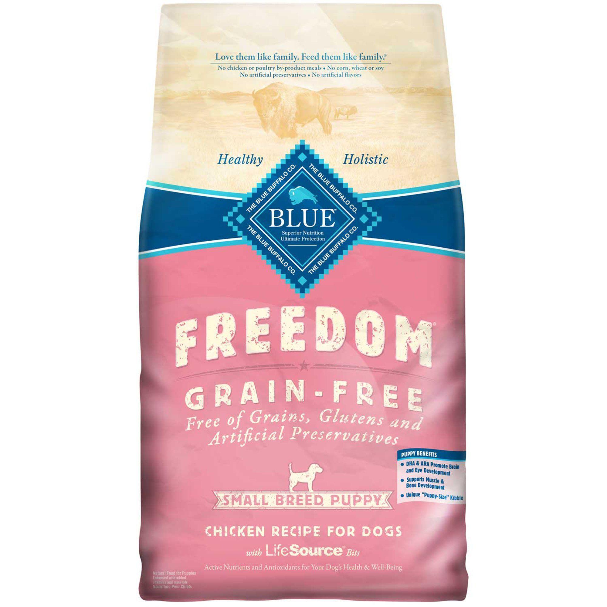 Blue Buffalo Blue Freedom Grain Free Small Breed Puppy Chicken Recipe Dry Dog Food 4 Lbs Petco Freeze Dried Dog Food Puppy Food Dry Dog Food
