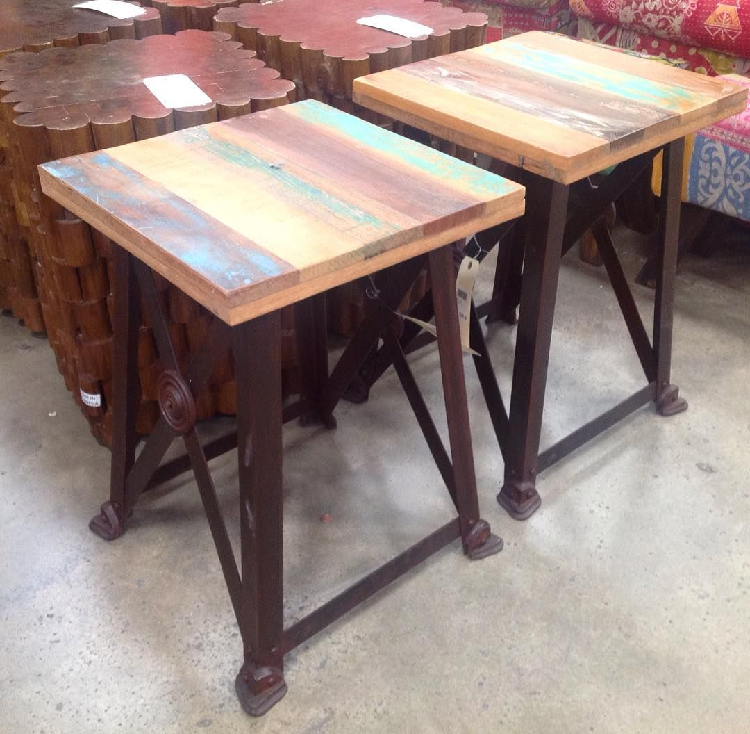 Magnificent Metal Stool With A Reclaimed Wood Top Southeasternsalvage Alphanode Cool Chair Designs And Ideas Alphanodeonline