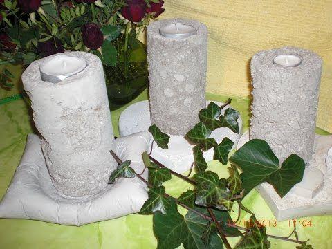 Beton Giessen Tolle Muster In Den Beton Zaubern Youtube Pillar Candles Cement Crafts Candles
