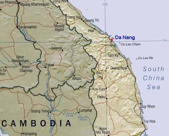 Da Nang Vietnam Map Detailed | Journal Stuff | Vietnam map