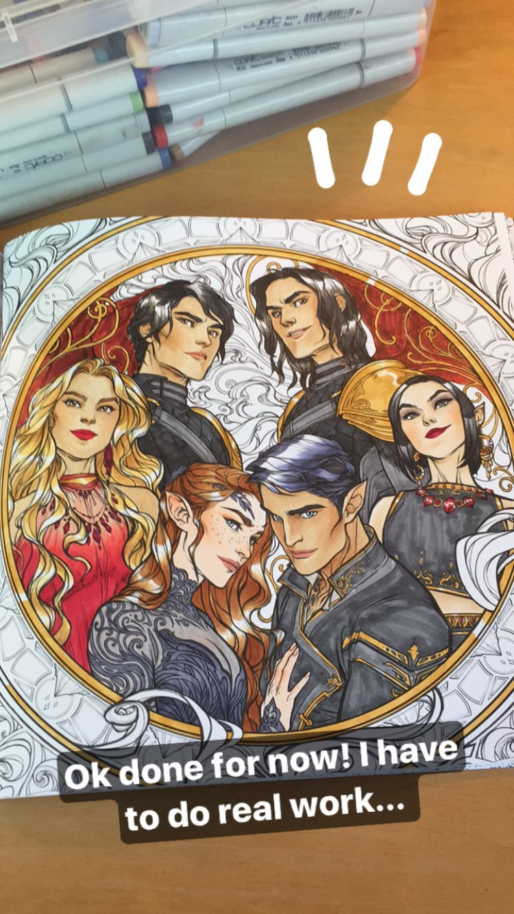 A Court Of Thorns And Roses Coloring Book Sarah J Maas The Night