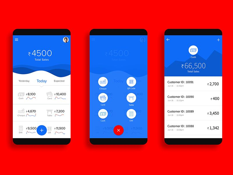Mobile Wallet App Mobile Ui Examples
