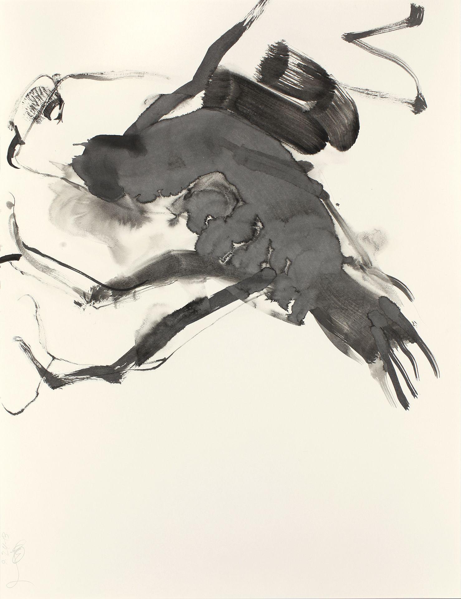 """Bill Logan: OWL #220. Ink on paper, 24"""" x 18"""". 2013."""