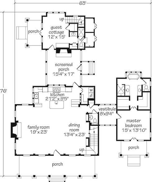 Best Separate Master Suite And Guest Cottage This Floor Plan 400 x 300