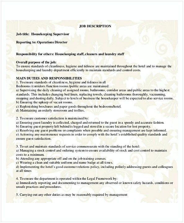 Resume For Housekeeper Download Private Housekeeper Resume