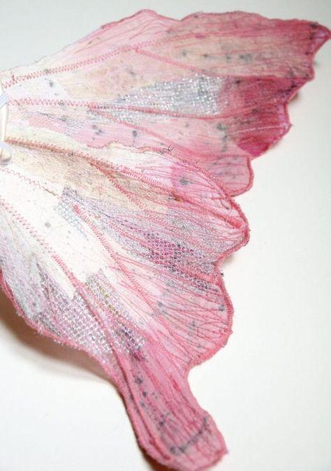 Feenfluegel Basteln Netz Stoff Recyceln Huebsch Accessoire Verkleidung