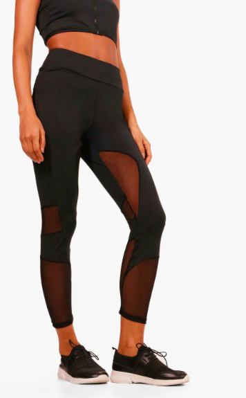 a69fcc7f45ef86 I love the mesh legging look! Click this pin to find them at boohoo ...