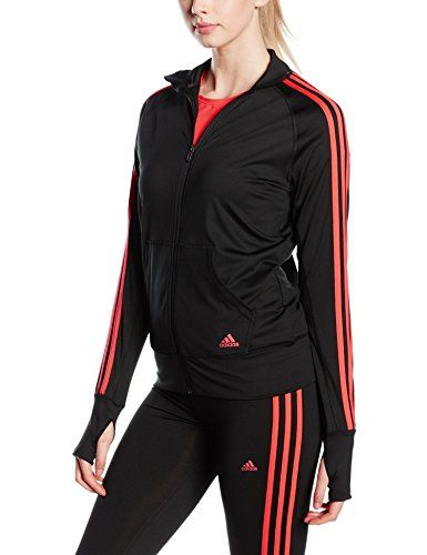 691785587d55 Adidas Essentials Women s Tracksuit Top Black Black Shock Red S16 Size S  Price…