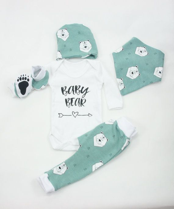 baby boy coming home outfit newborn boy gift set unisex baby bear organic cotton clothes set for. Black Bedroom Furniture Sets. Home Design Ideas