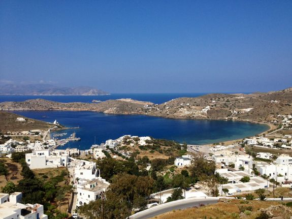 * View from Francesco's Hostel in Ios, Greece | Sara Russell Interiors