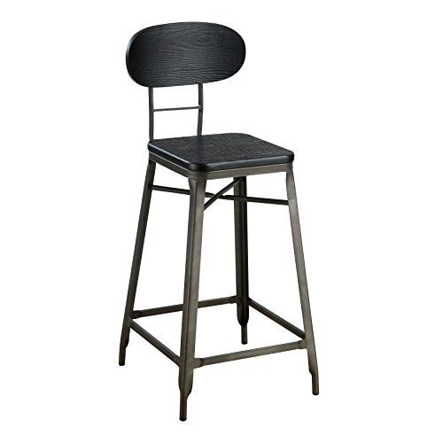 Homes Inside Out Idf Br6322 24 Reymo Counter Height Chair Rust Industrial Furniture Of America Bar Stools Mid Century Modern Furniture Stores