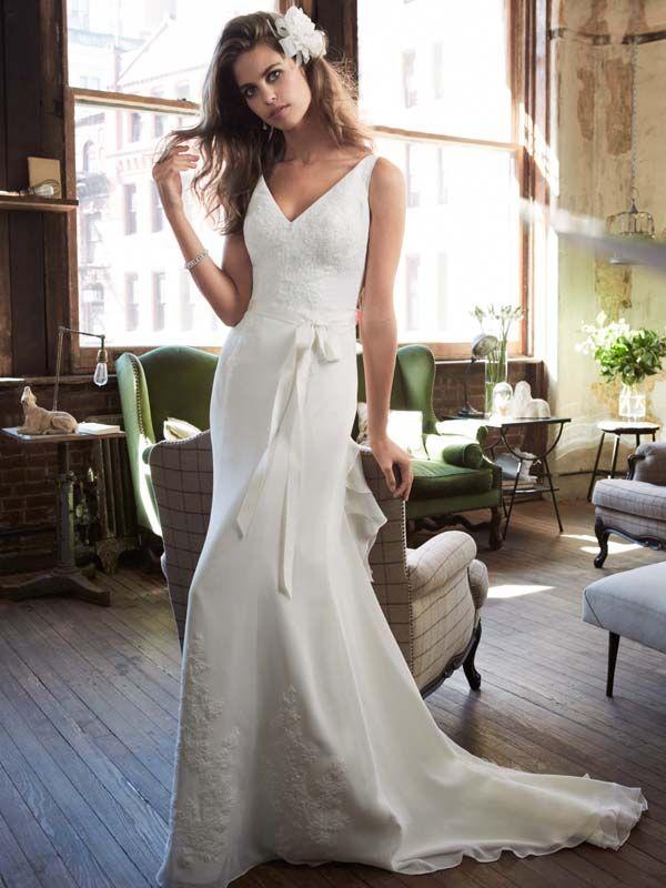 galina davids bridal ruffle wedding dresses ribbon bow davids