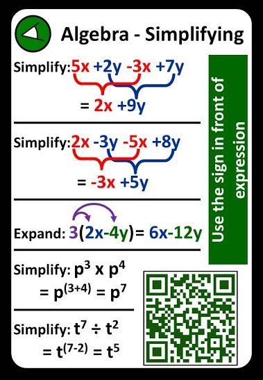 Displaying Algebra Simplifying Jpg Education Math Studying Math Teaching Math