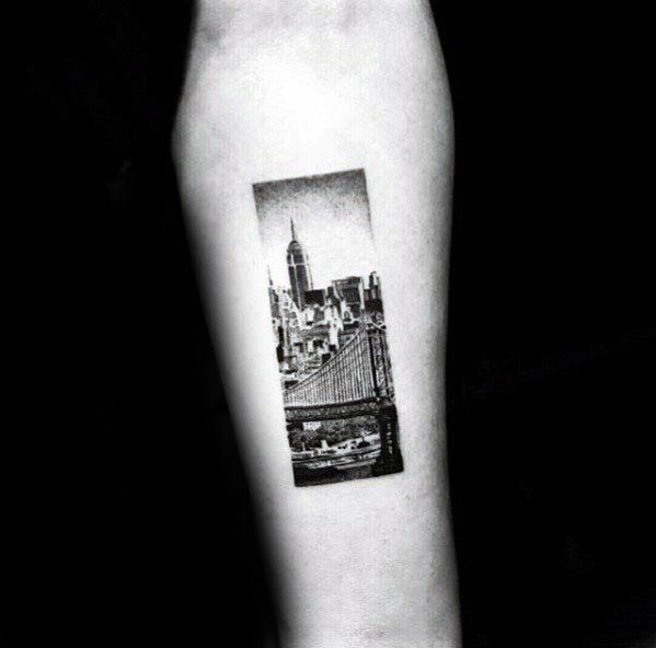 d96efa917 Rectangle Mens Skyline Small Tattoo Designs Tattoo Trends, Best Couple  Tattoos, Cool Tattoos For