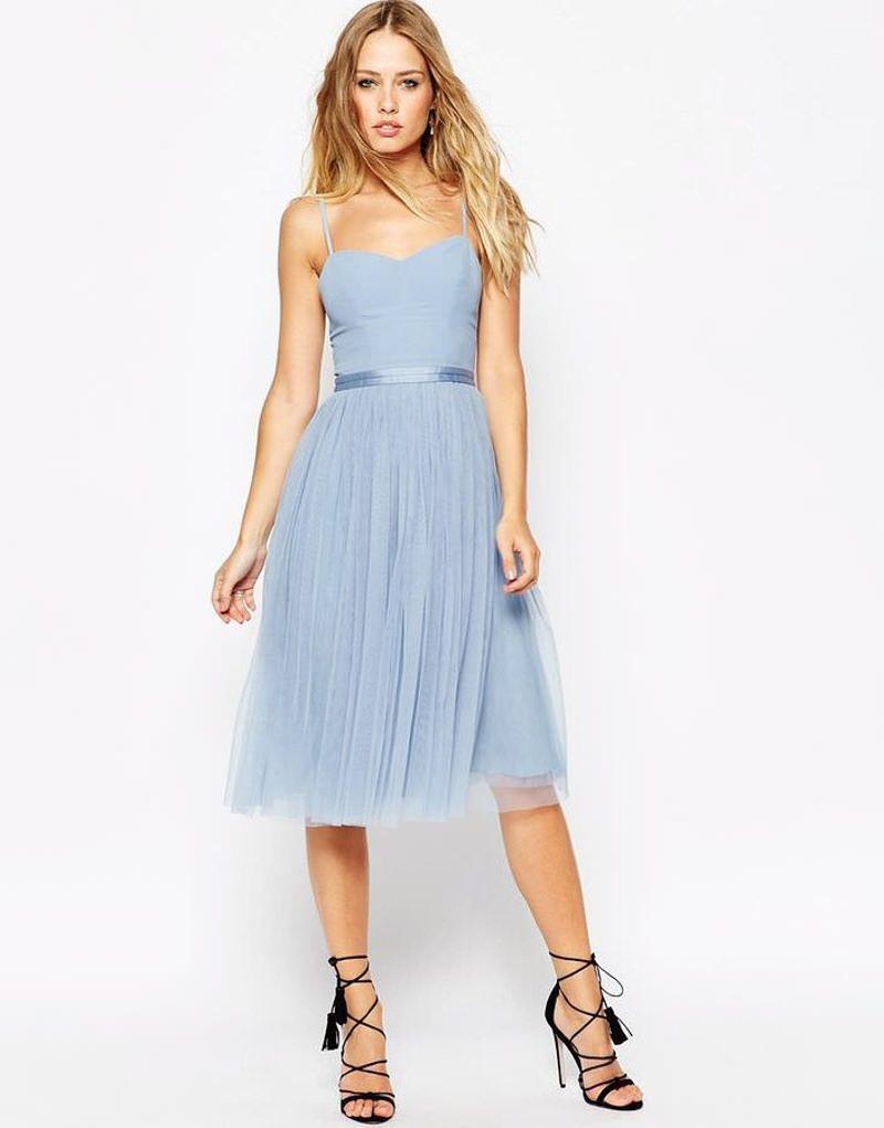 Kleid fur hochzeit hellblau – Mode Kleider von 2018