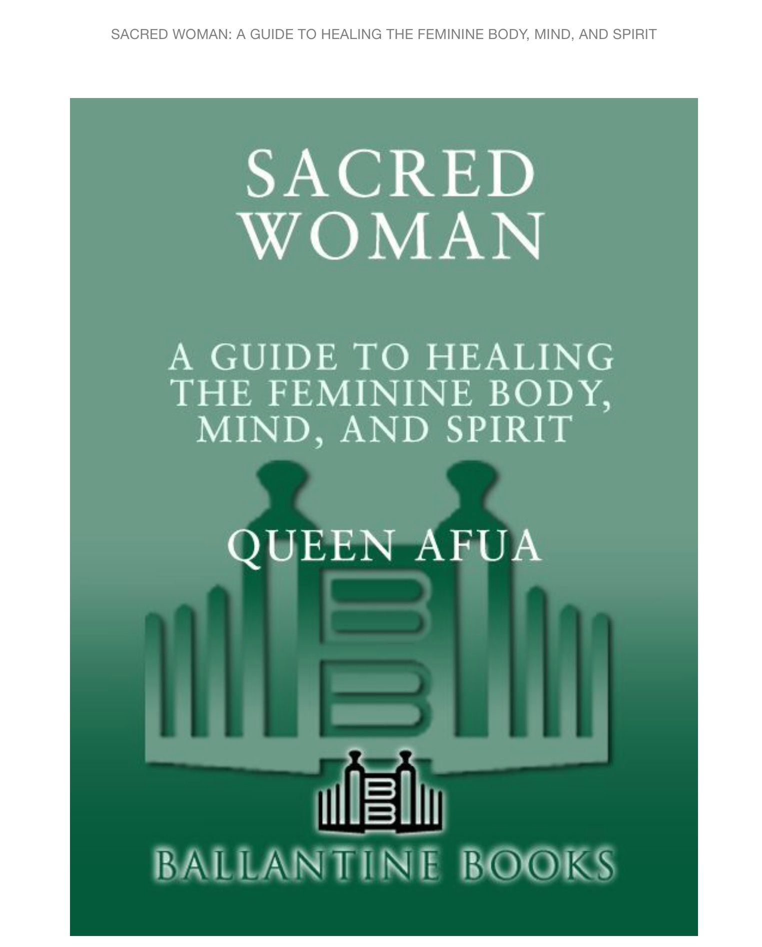 Queen Afua | Books in 2019 | Inspirational books, Reading