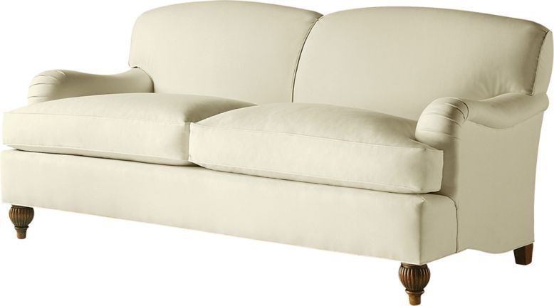 Baker English Arm Sofa With A Tight Back And A Loose Seat Shaped