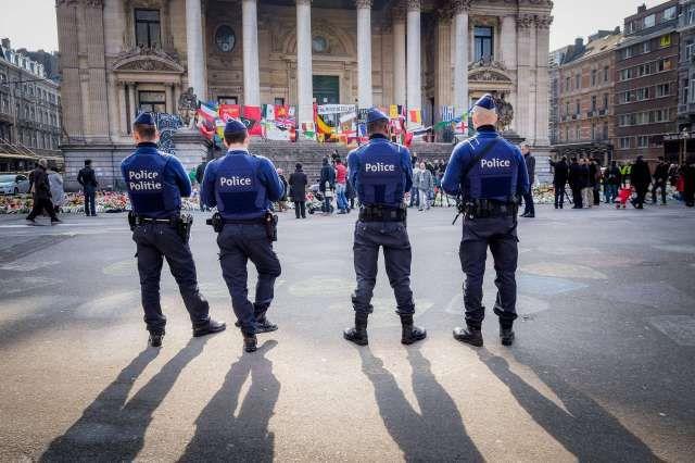 Anschläge in Brüssel Gedenken vor der Börse On the initiative of the executive of the Muslims of Be