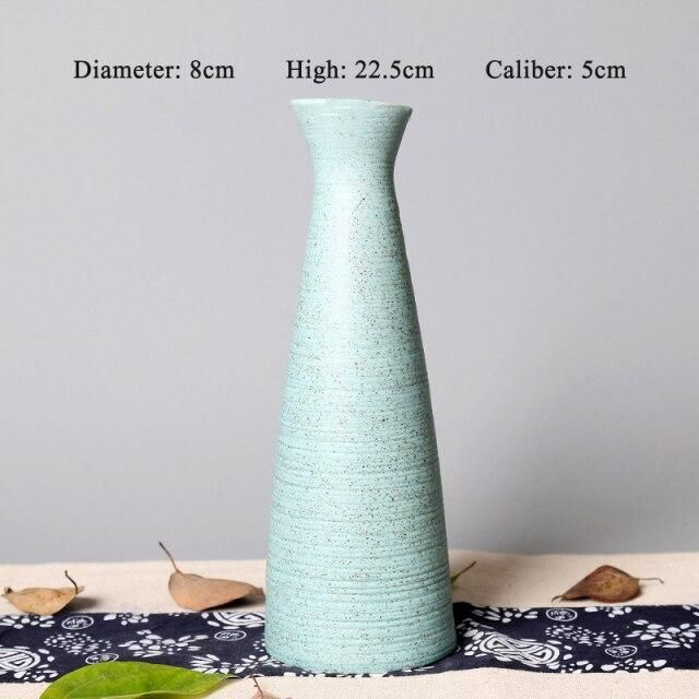 Photo of 1PCS Blue Vase Ceramic Vase Home Decoration Accessories Dry Flower Modern Minimalist Literary Vases for Flowers – Style 5