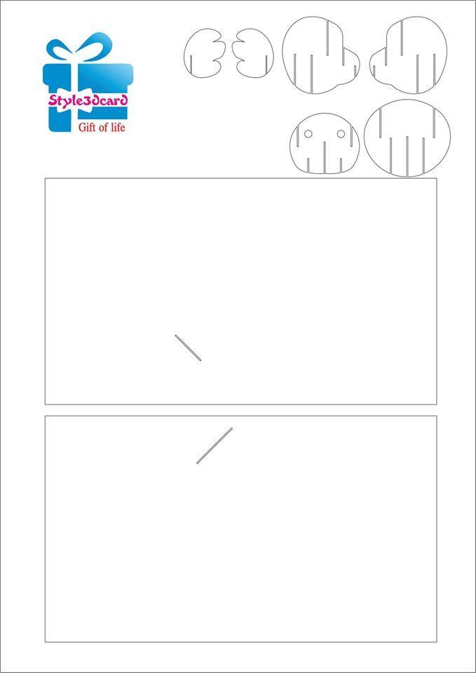 Fall Bear Pop Up Card Greeting Card Pattern 1 Pop Up Card Templates Pop Up Cards Pop Up Art
