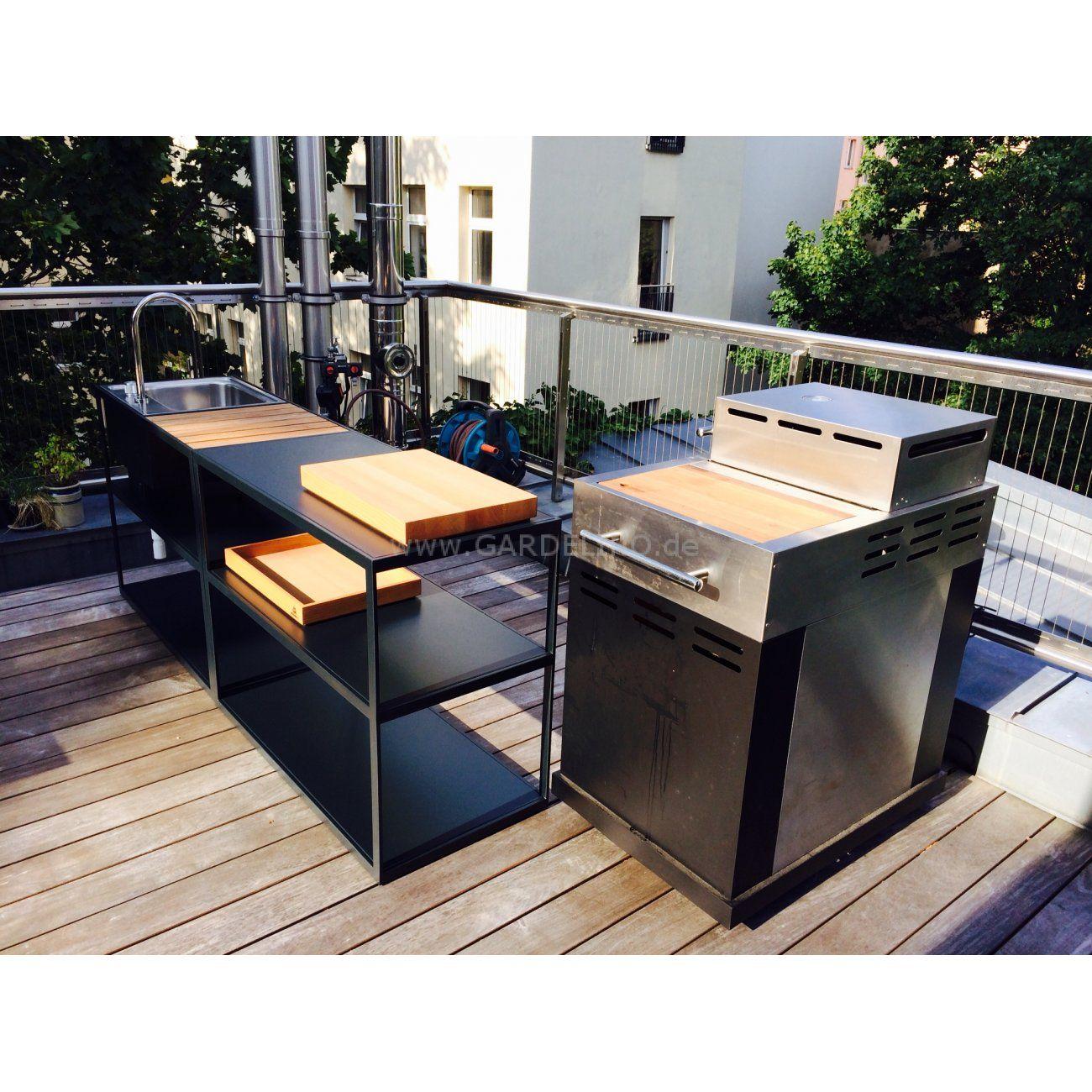 Modulare und mobile Röshults Gartenküche auf der Terrasse // modular ...