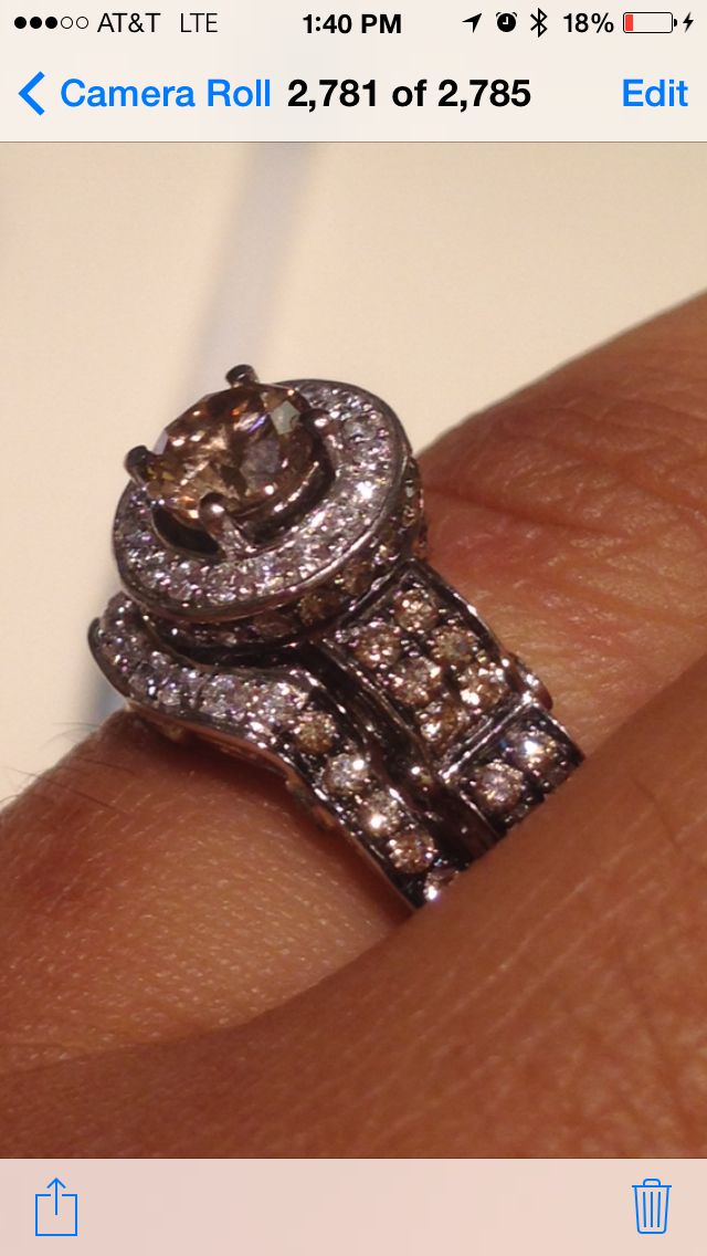 Finally Wedding Band Is Here Second Ring Just Came In And The Look Gorgeous Together Levian Custom Set Of Chocolate Diamonds