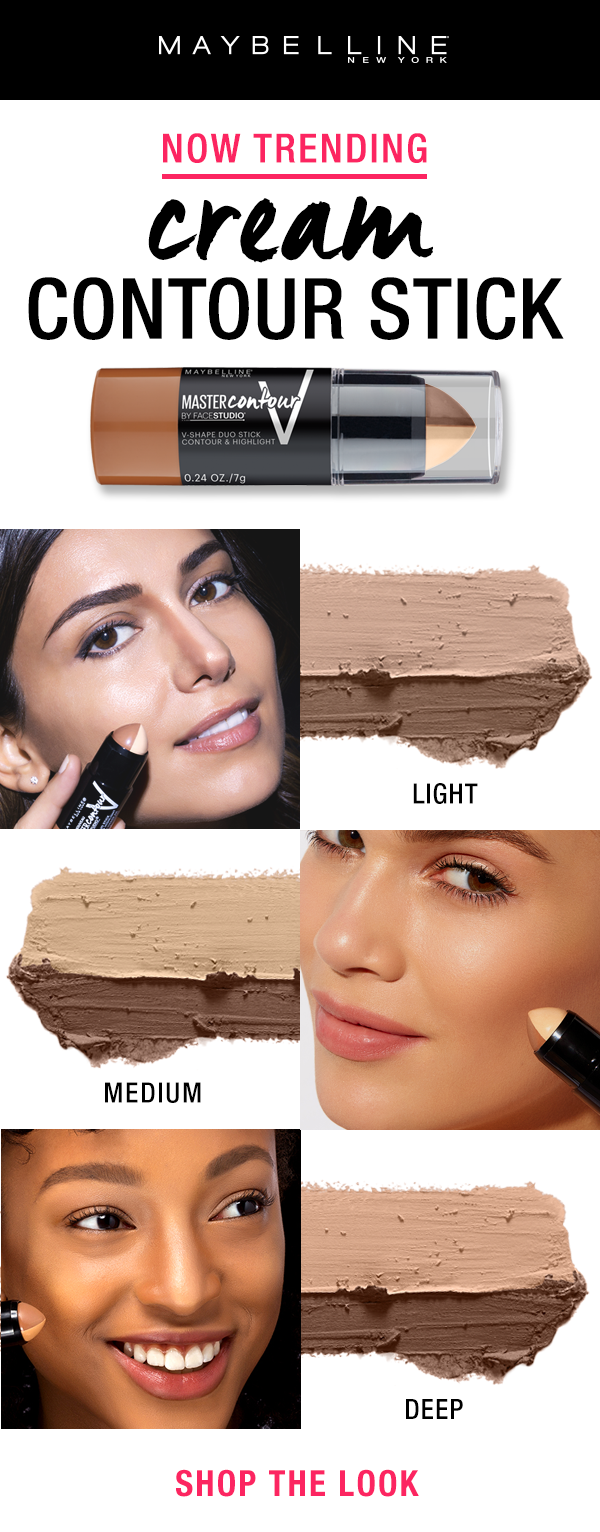 Cream Contour Sticks Are Trending Right Now And The Fan Favorite Drugstore Contour Stick Is The Maybelline Cream Contour Stick Cream Contour Drug Store Contour