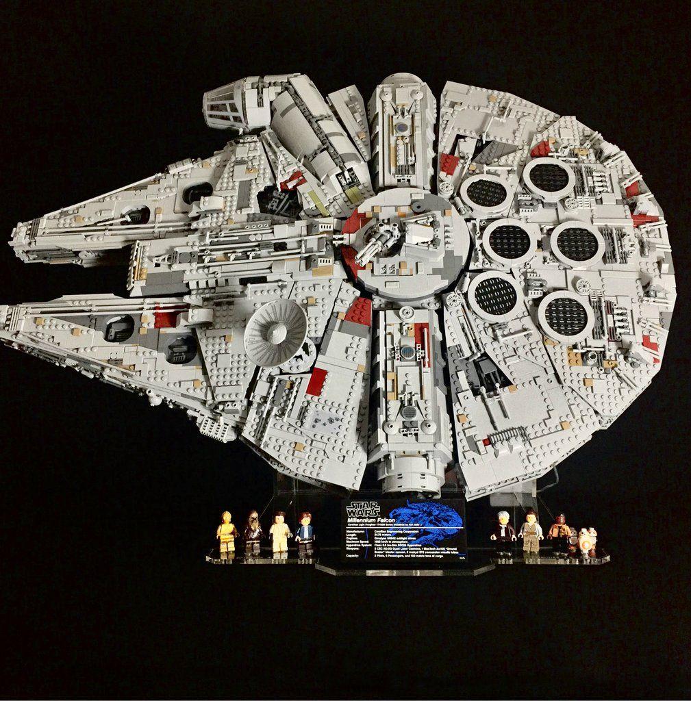 Display Ideas For Lego 75192 Ucs Millennium Falcon Candidbricks Lego Display Millennium Falcon Lego Star Wars Sets
