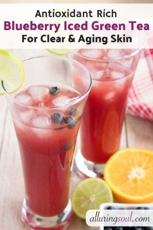 Photo of Antioxidant Rich Blueberry Iced Green Tea For Clear And Aging Skin | Alluring Soul