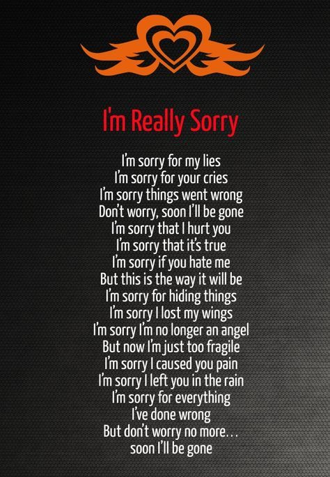 Sorry Poems For Hurting Him 7