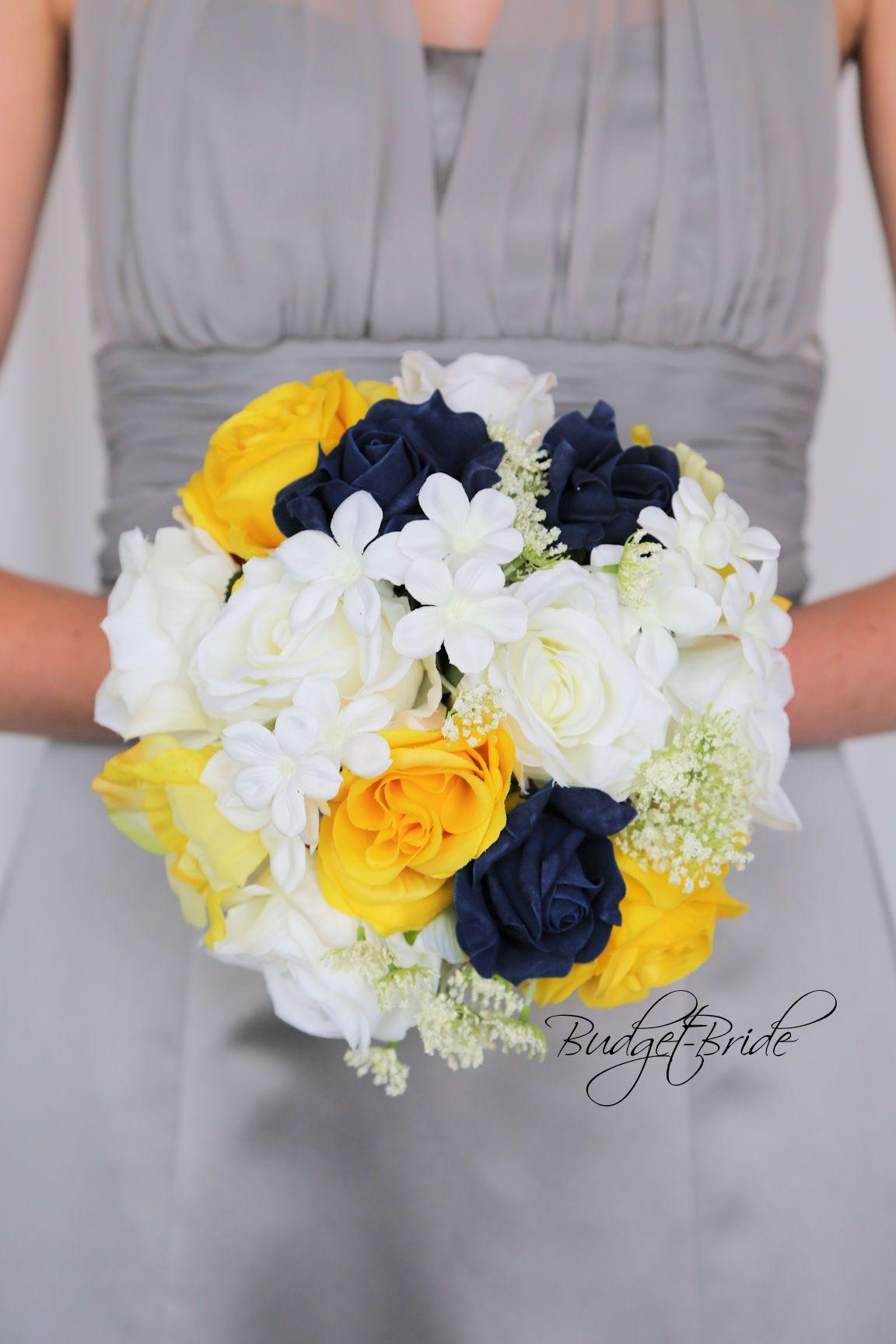 Davids Bridal Mercury Bridesmaids Dress Flowers In Marine Blue