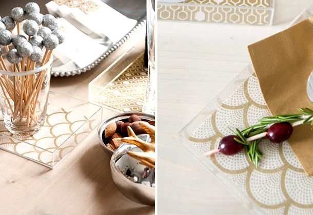 Quick Patterned Acrylic Trays