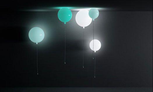 Lampada palloncino Memory a sospensione e parete