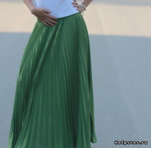 Зелёная длинная юбка купить