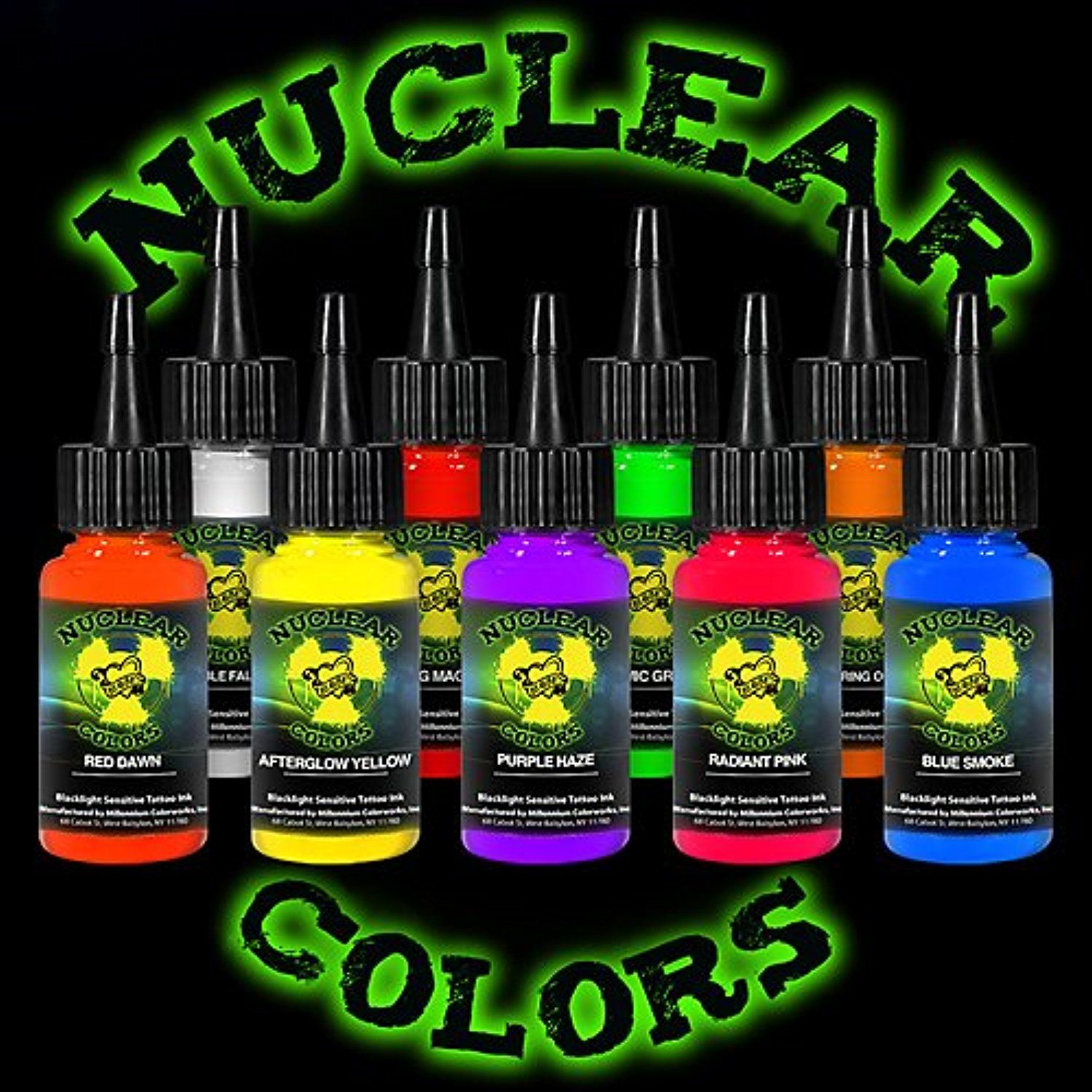 Tattoo Ink Set Mom S Nuclear Uv Blacklight Colors 9 Primary 1 2oz Read More Reviews Of The Product By Visiting The L Uv Tattoo Ink Tattoo Best Tattoo Ink