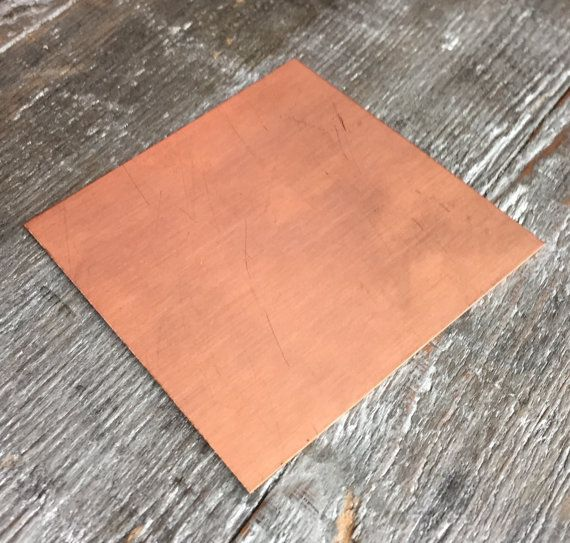 Copper Sheet 3 X 3 Inches Copper Sheet Different Gauges Etsy Copper Sheets Copper Sheet